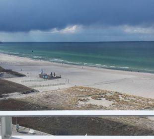 Blick nach Westen Hotel Neptun