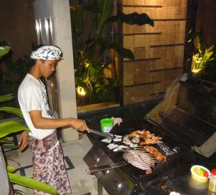 Barbecue in unserer Villa The Ahimsa Beach