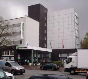 Hotel von der Lübecker Straße aus gesehen Hotel Holiday Inn Hamburg