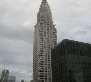 Blick aus dem Zimmer auf das Chrysler Building Hotel Westin New York Grand Central