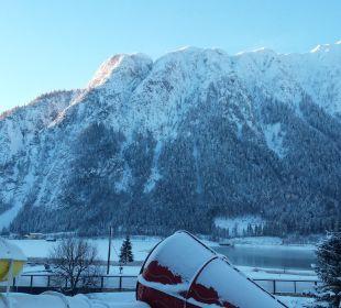 Ausblick aus dem Zimmer Rieser's Kinderhotel Buchau