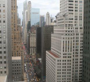Blick aus dem Zimmer auf die 42nd Street Hotel Westin New York Grand Central