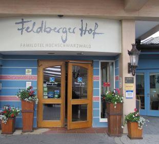 Eingang Familotel Hotel Feldberger Hof