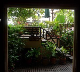 Zugang zur Dachterrasse Hotel Siam Heritage