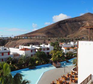 Aussenanlage Richtung Küstenstrasse Fuerteventura Princess