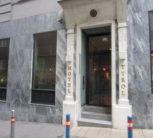 Eingangstür Small Luxury Hotel Das Tyrol