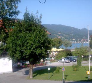 Ausblick aus dem Zimmerfenster Hotel Bellevue