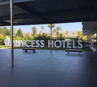 Hotel Eingang SENTIDO Gran Canaria Princess