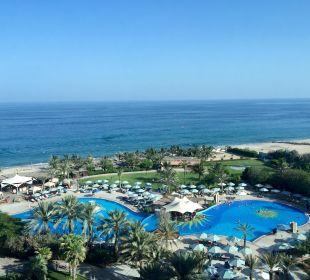 Zimmerausblick Hotel Le Meridien Al Aqah Beach Resort