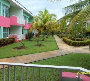 Blick von der Bungalow Terrasse Barcelo Solymar Beach Resort