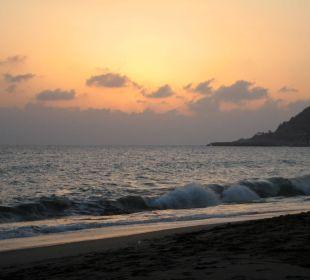 Sonnenuntergang am Hotelstrand Kleopatra Melissa Hotel