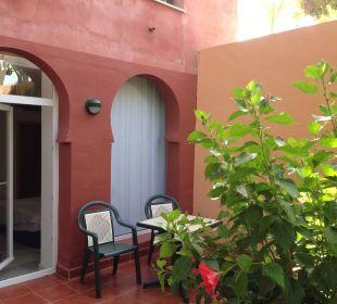 Taras przy pokoju Playacalida Spa Hotel