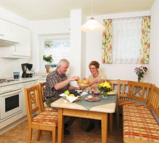 Küchenbereich in der Ferienwohnung  Oberstdorfer Ferienwelt