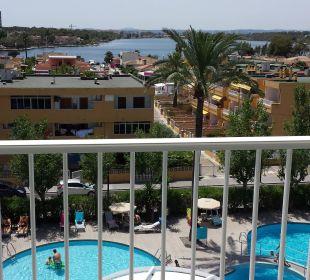 Ausblick vom Balkon JS Hotel Sol de Alcudia