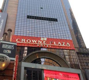 Broadway-Eingang Crowne Plaza Hotel Times Square Manhattan