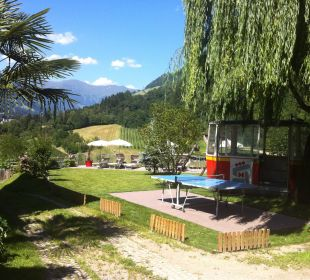 Neue Liegewiese hinterm Hotel Hotel Alpenhof Passeiertal