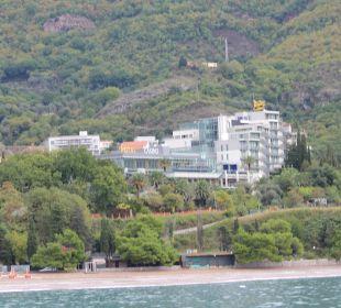 Ansicht vom Meer Hotel Queen of Montenegro