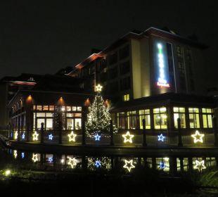 Weihnachtlich beleuchtet Lindner Park-Hotel Hagenbeck