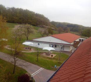 Ausblick aus unserem Zimmer zur Landseite Berghotel Ilsenburg