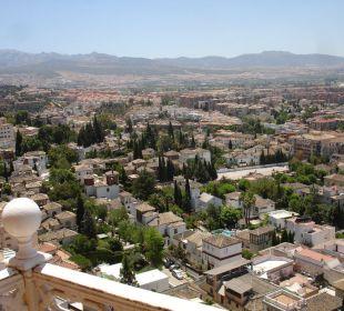 Ausblick vom Zimmer auf Granada Hotel Alhambra Palace