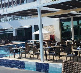 Außenbereich des Restaurants Sensimar Belek Resort & Spa