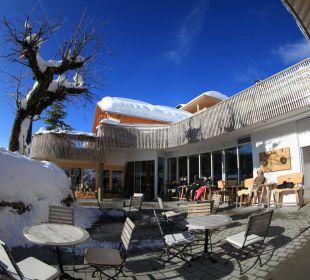 Eingang Hubertus Alpin Lodge & Spa