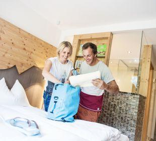 Badezimmer im neuen Designzimmer Funsport-, Bike- & Skihotelanlage Tauernhof