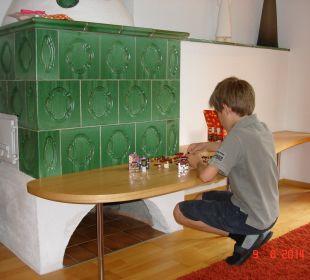 Kamin im Wohnzimmer Familien-Landhotel Stern