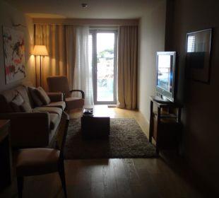 Wohnraum der Suite Hotel Bellevue