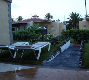 Ein Blick vom Bungalow  Hotel Miraflor Suites