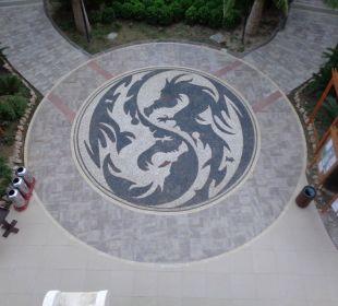Eine Aussicht von der Terrasse  Hotel Royal Dragon