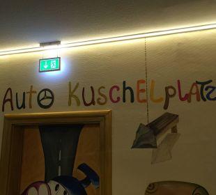 Weg zum Parkhaus Kinderhotel Oberjoch
