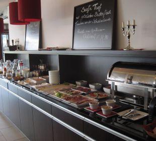 Teil des Frühstückbuffets Hotel Elbiente