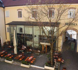 Blick auf den Innenhof Griesbräu zu Murnau