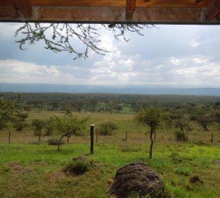 Ausblick vom Zimmer auf der Terrasse Hotel Lake Nakuru Lodge