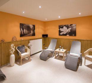Ruheraum im Saunabereich Angerer Familienappartements Tirol