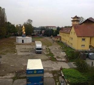 Ausblick aus dem Zimmer Hotel Median Hannover Messe