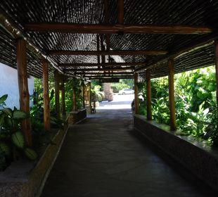 Durchgang zur Rezeption Hotel Traveller's Club