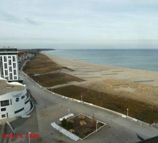 Blick nach Westen zum Stoletraa-Küstenwald Hotel Neptun