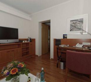Wohnzimmer: Blick zum Schlafzimmer