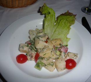 Vorspeise des Menüs im Aqua Restaurant