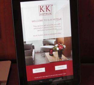 Tablet computer K+K Hotel Central