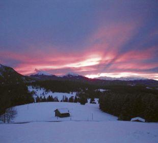 Romantische Winterstimmung vom Gasthof aus Alpengasthof Jolanda