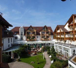Blick in den Innenhof Ringhotel Krone Schnetzenhausen