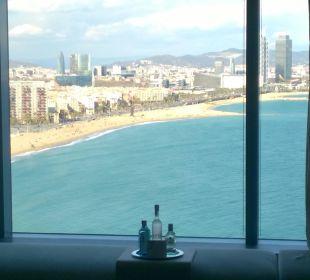 Blick aus dem Zimmer 14. Stock W Barcelona Hotel