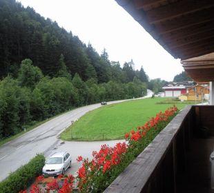 Aussicht vom Zimmerbalkon Hotel Alpenhof