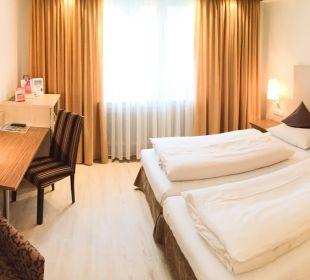 Standarddoppelzimmer City Hotel Ost am Kö Augsburg