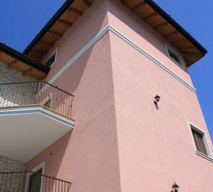 Einer der Türme der Residence Residenza Le Due Torri