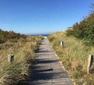 Hotelweg zum Strand Strandhotel Dünenmeer