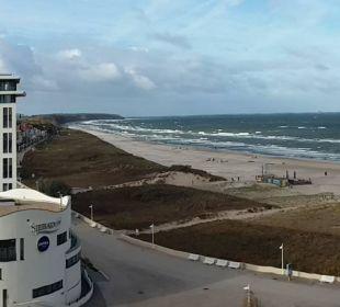 Blick vom Balkon Hotel Neptun